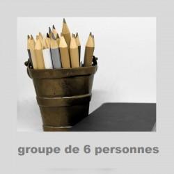 """cours """"regroupés"""" 6 personnes 10 COURS : 40€ (4€/personne)"""